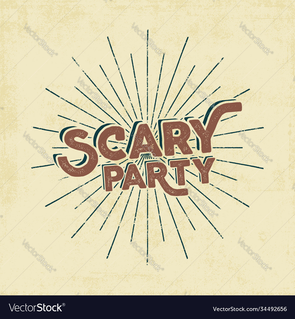 Halloween 2016 scary party typography label
