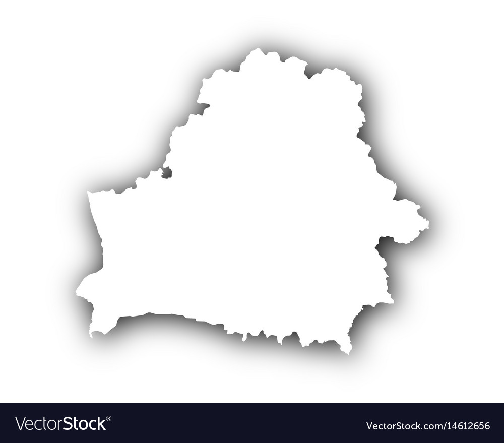 Map of belarus with shadow vector image