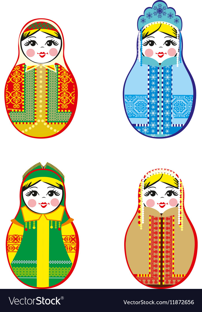 Nested dolls set Matryoshka with different