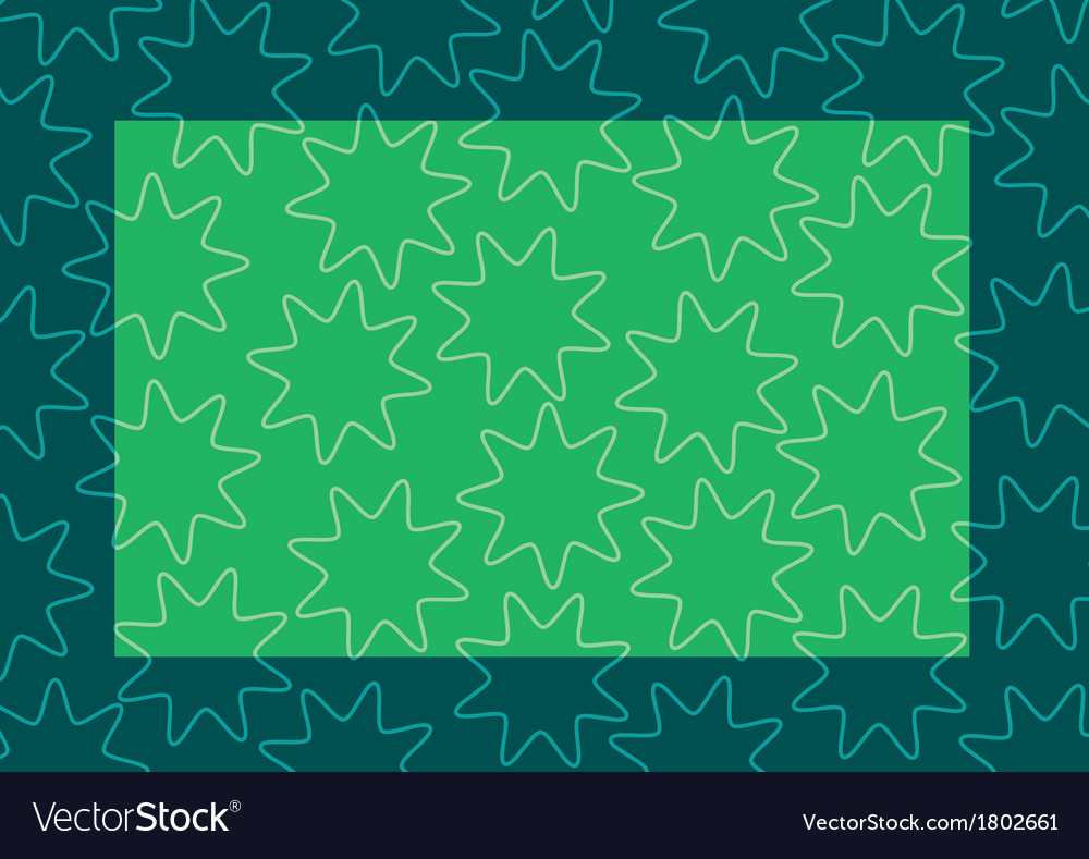 Background frame green vector image