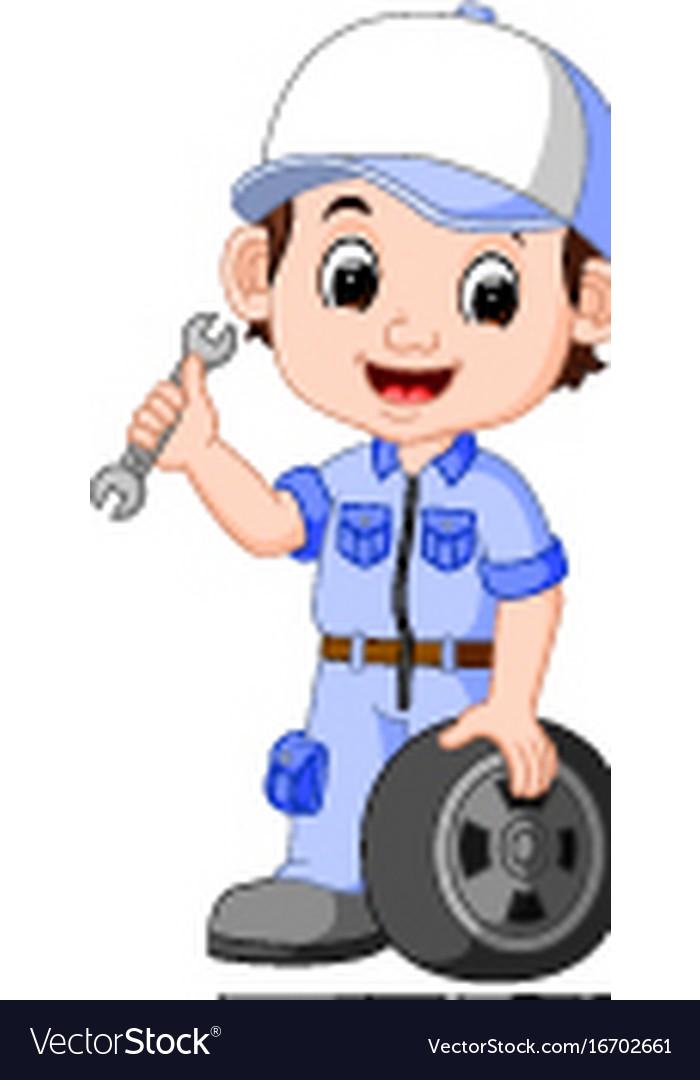 Cartoon serviceman vector image