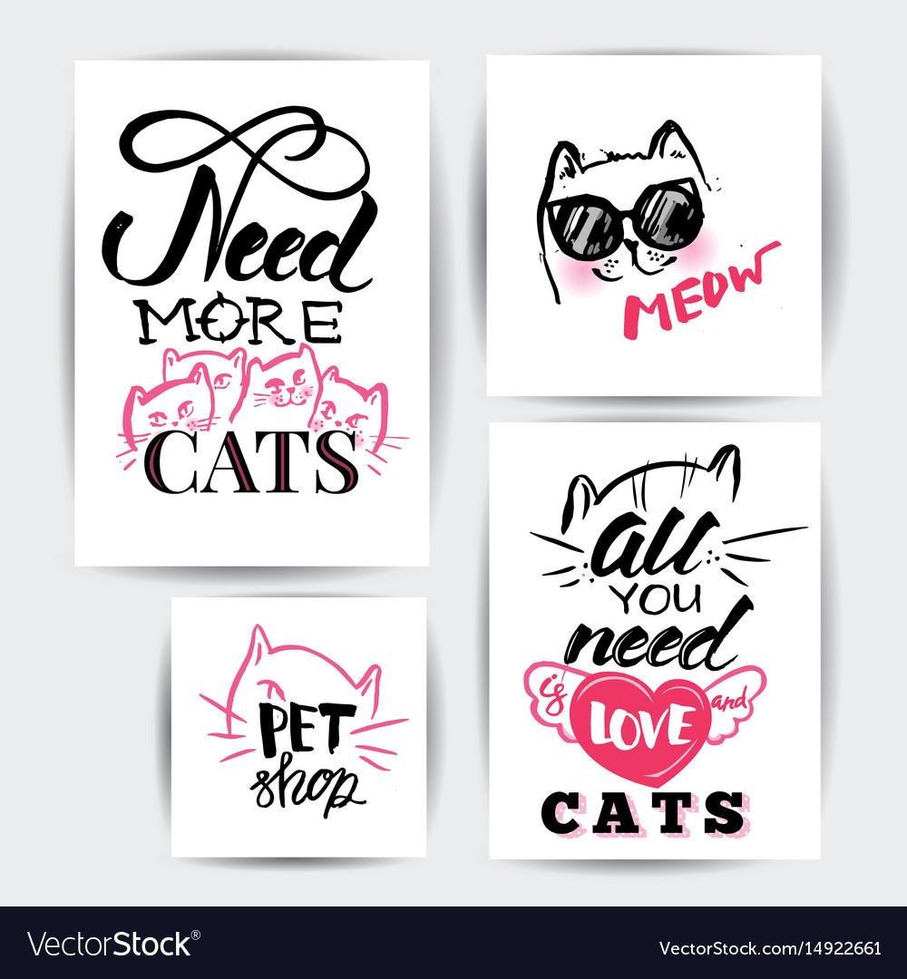 Cat banner set