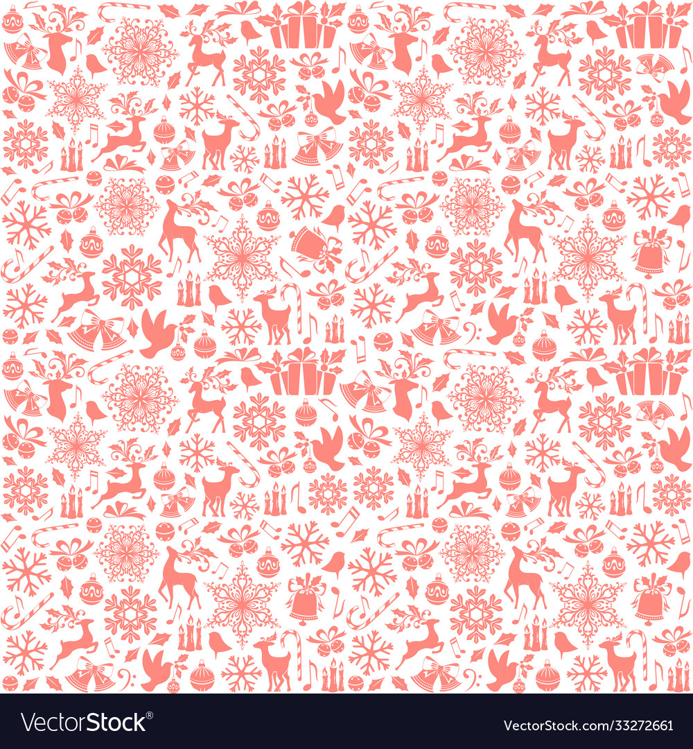 Christmas seamless pattern from holiday elements