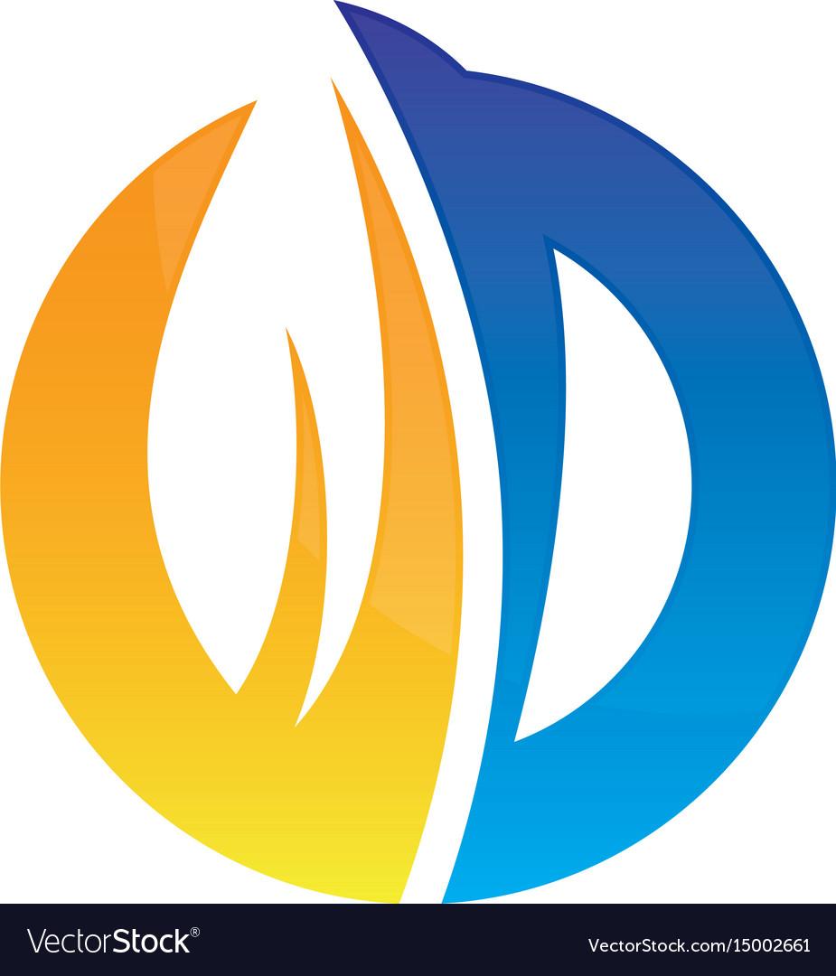 Circle leaf business logo image