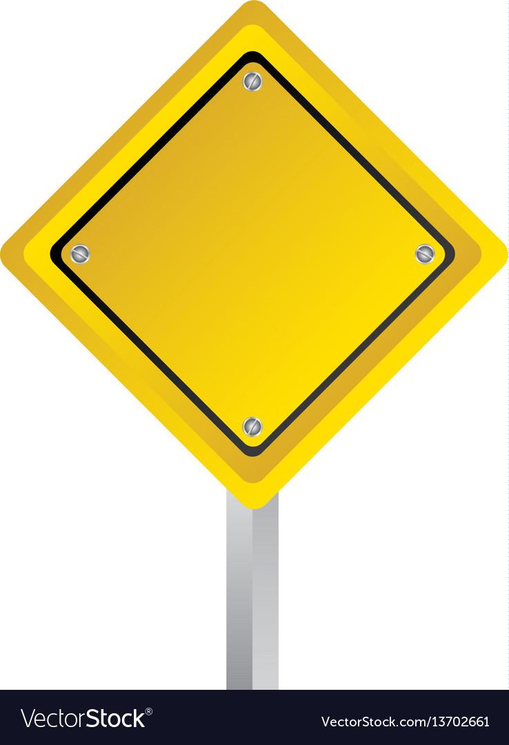 Emblem warning notice in blank