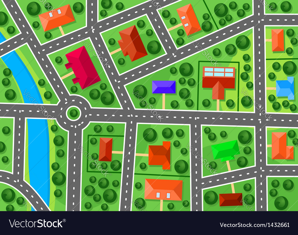 Map of suburb vector image