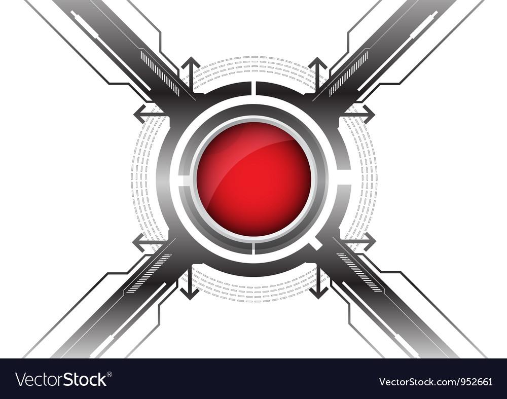 Modern red button