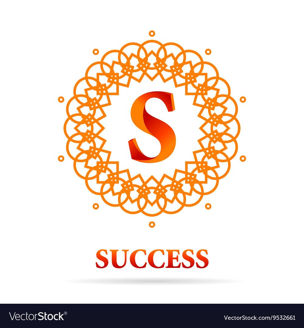 S Letter monogram logo abstract design