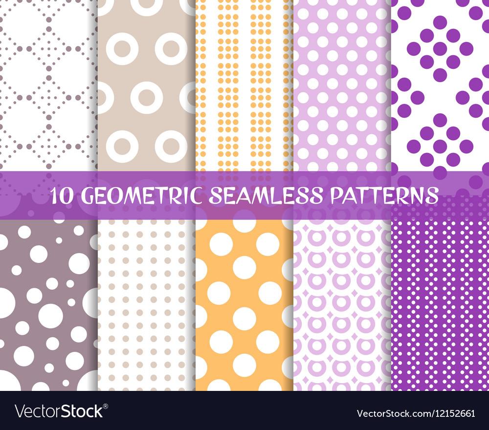 Seamless dot patterns romantic christmas set