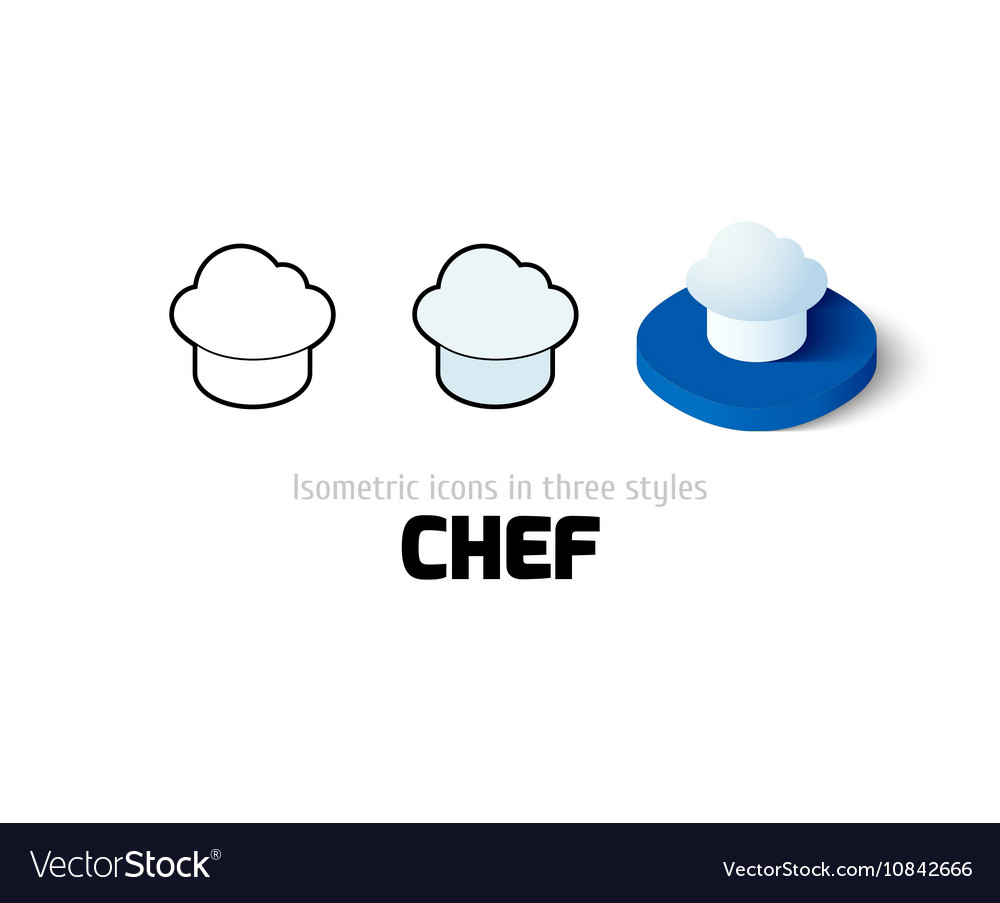 Chef icon in different style