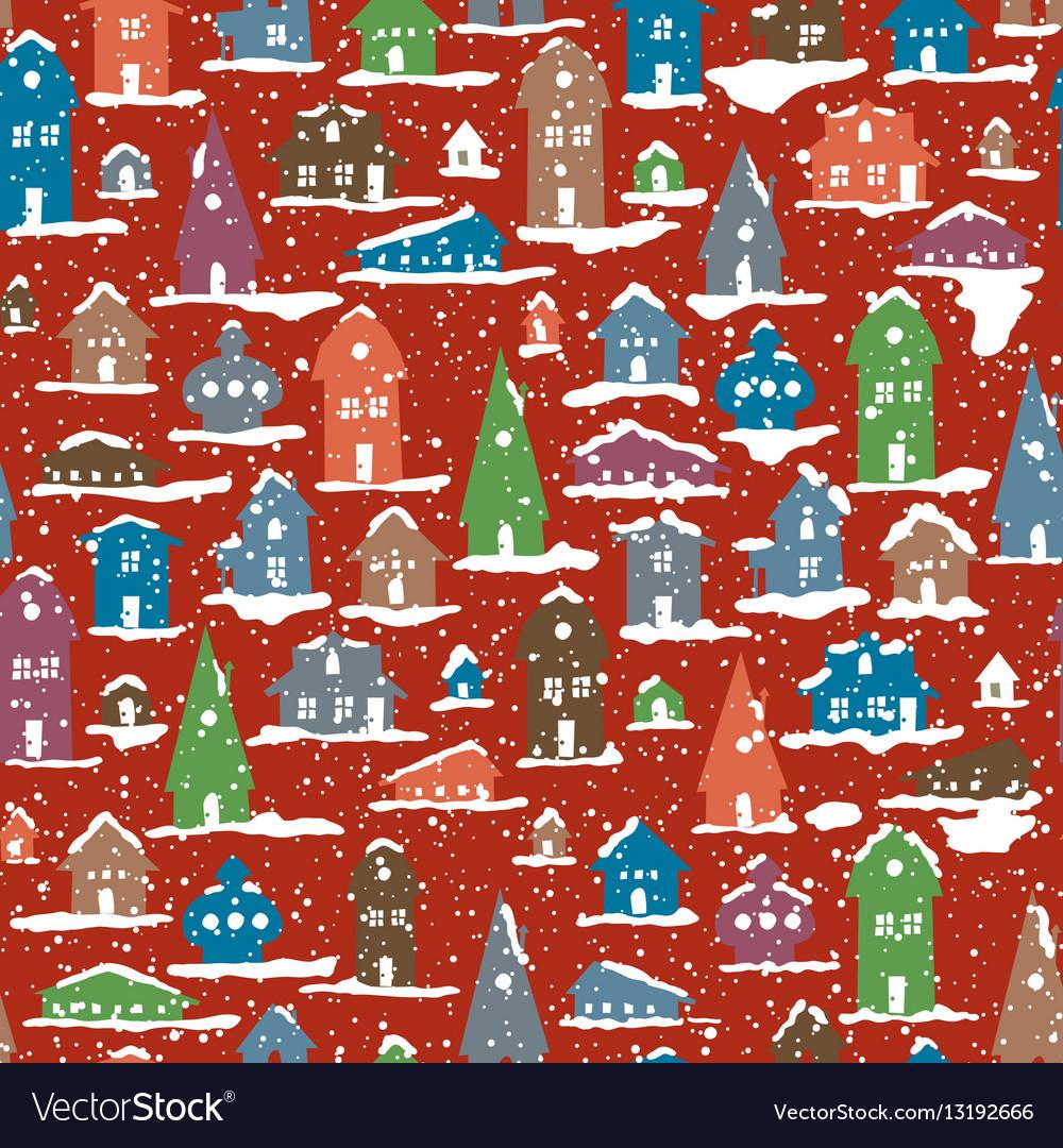 Christmas Snowy Village Calm scene Snowfall