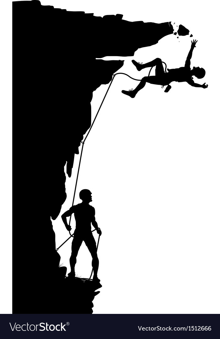 Climber fall vector image