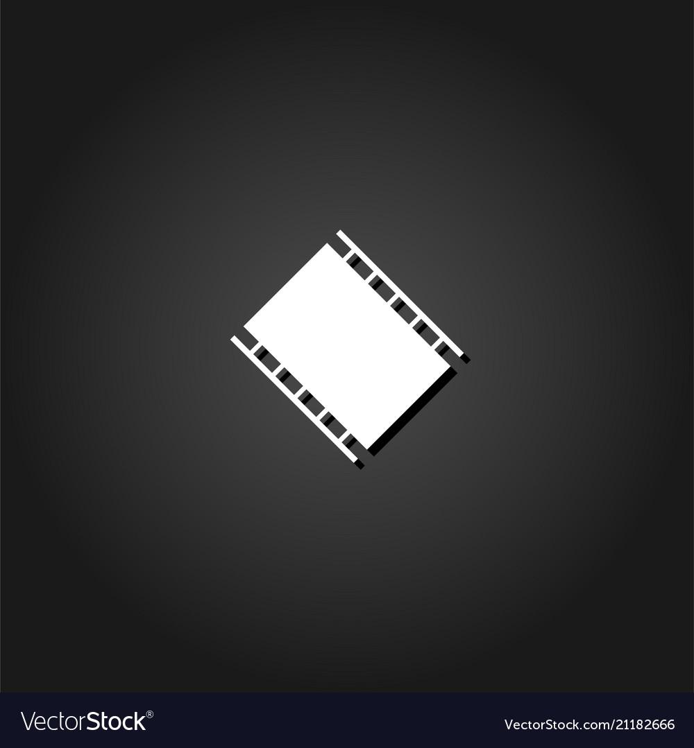 Film reel icon flat