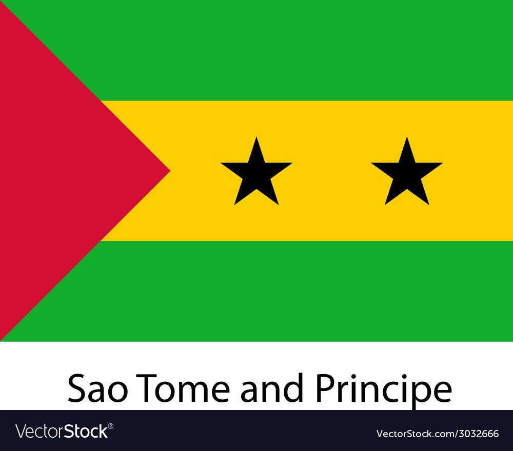 Flag of the country sao tome and principe
