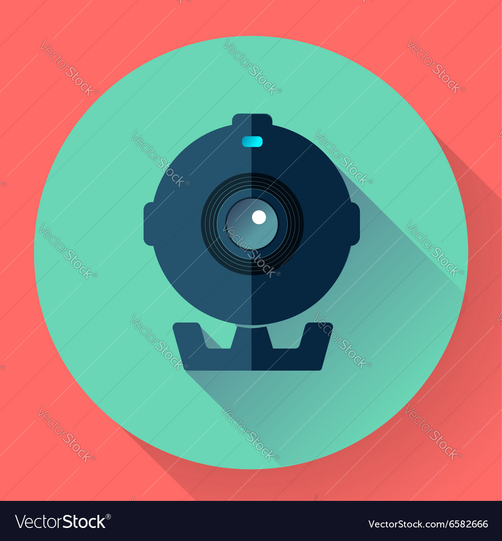 Flat Webcam Icon - Simple
