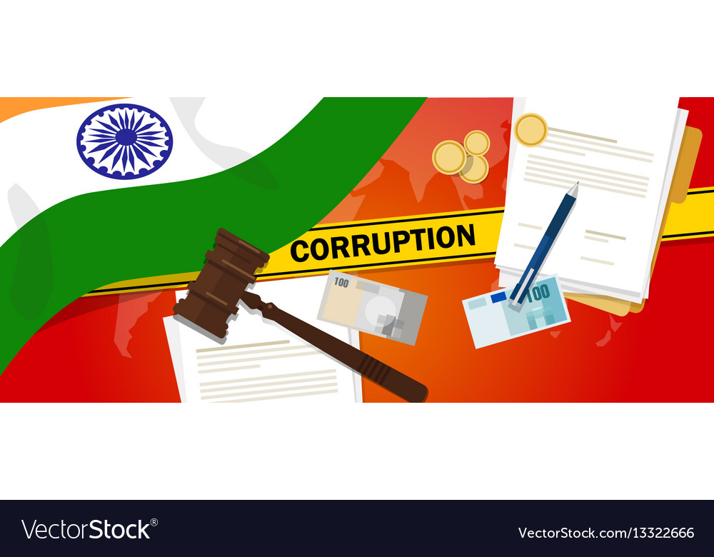 India fights corruption money bribery financial