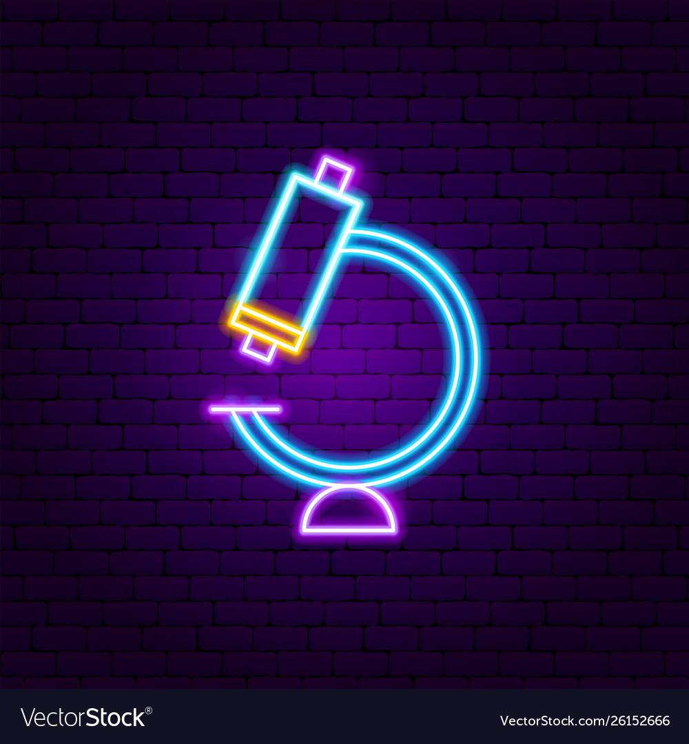 Microscope neon label