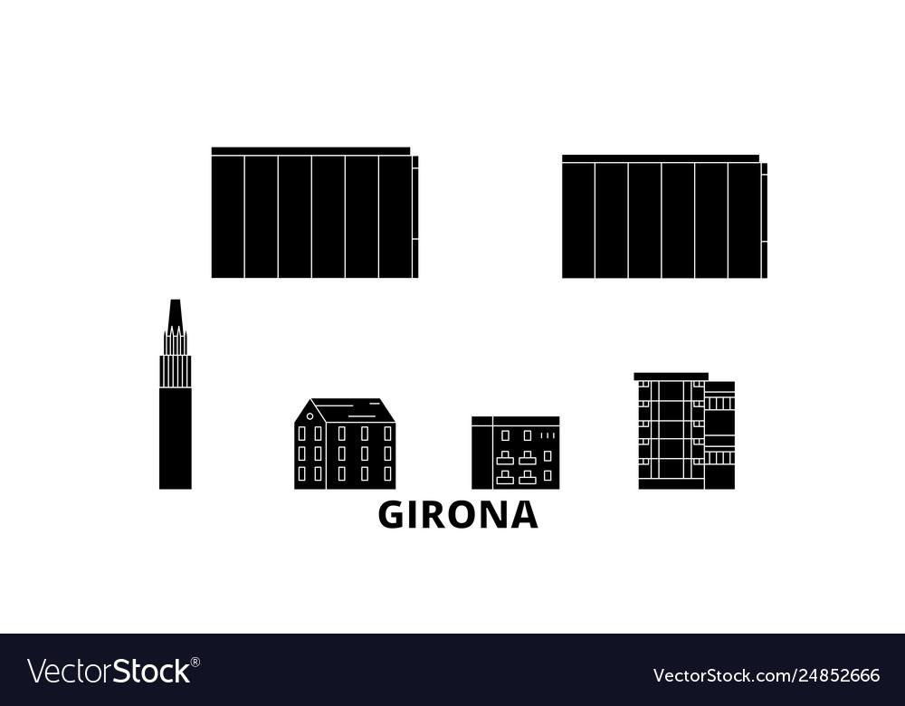 Spain girona flat travel skyline set spain