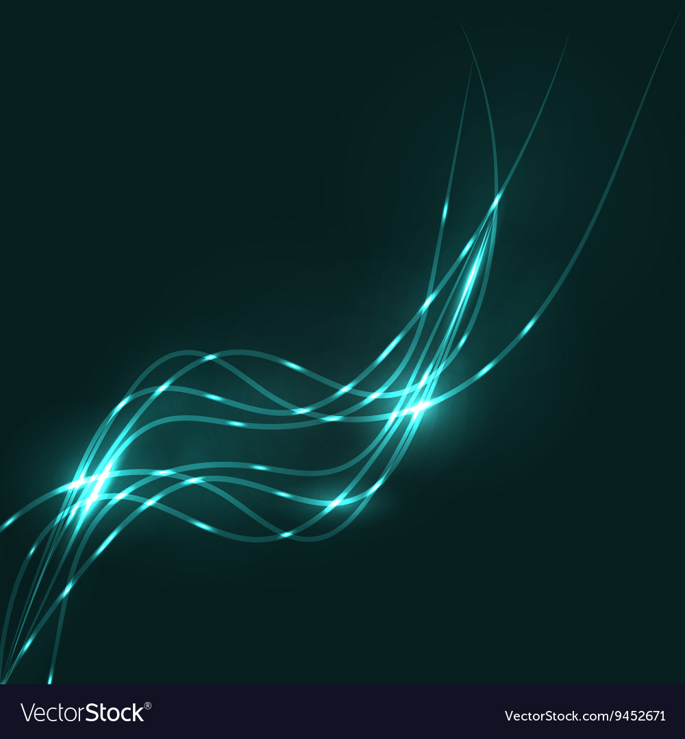 Abstract aquamarine waves background vector image