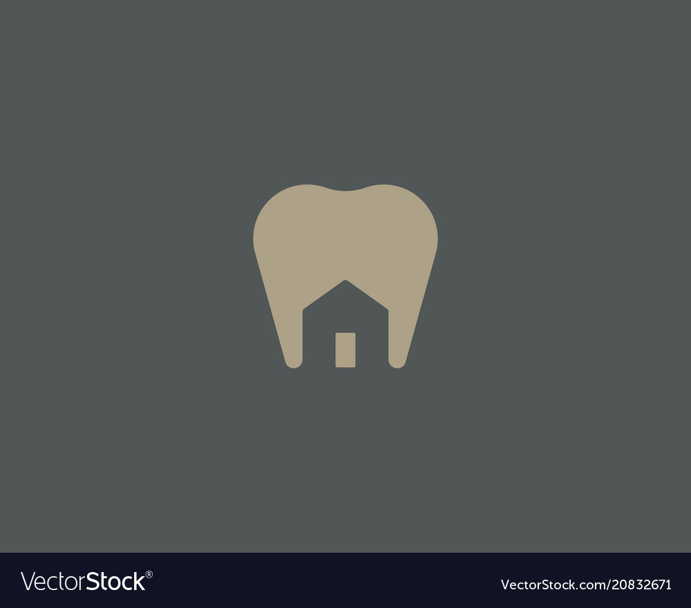 Dentist house logo design tooth home creative