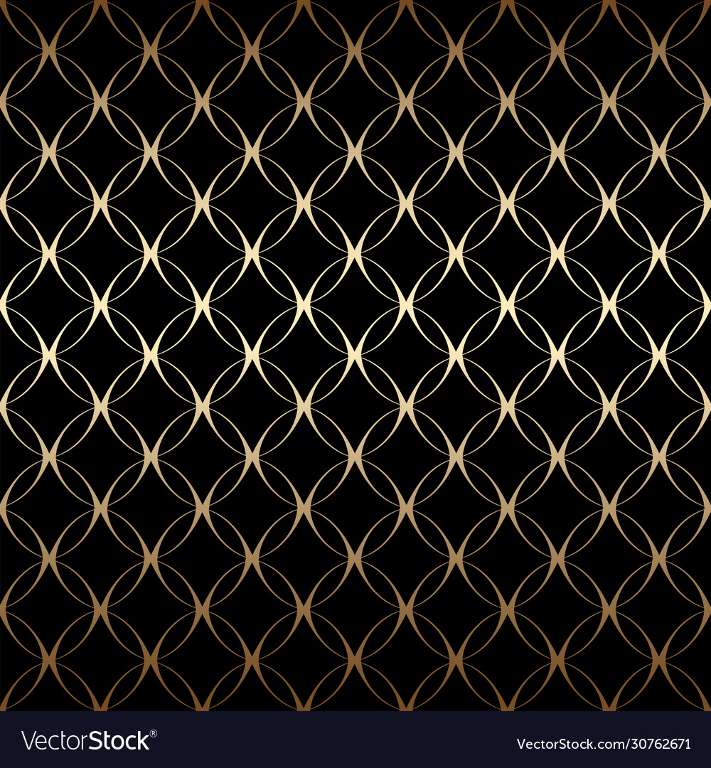 Gold art deco simple linear seamless pattern