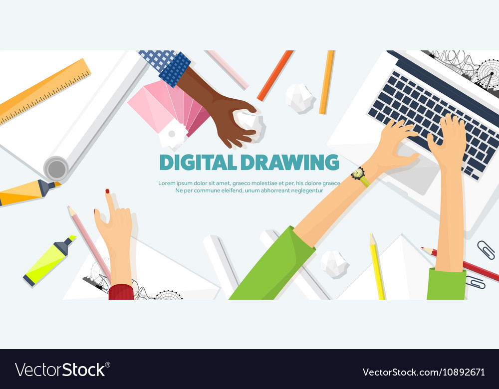 Graphic web design Drawing and painting