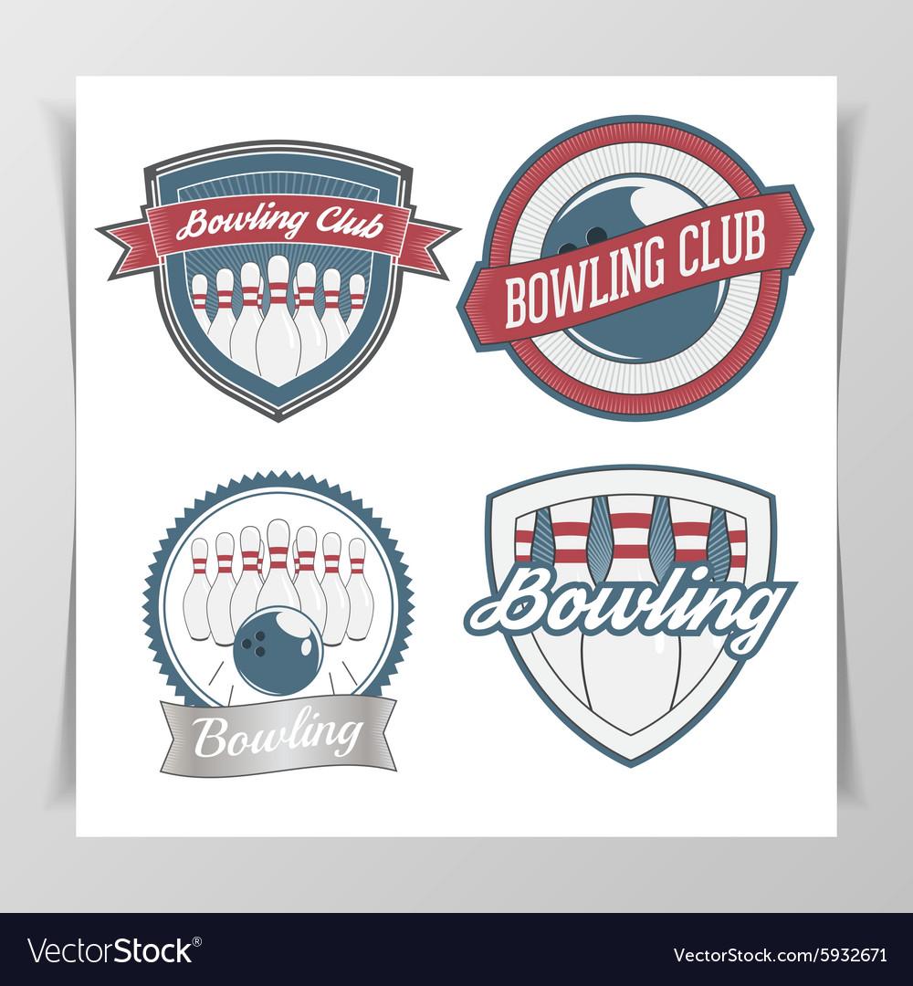 Set of Bowling Design Elements vector image