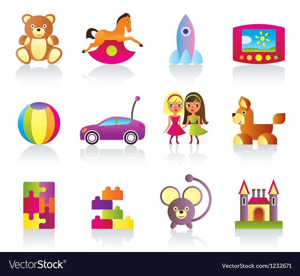 Various children toys