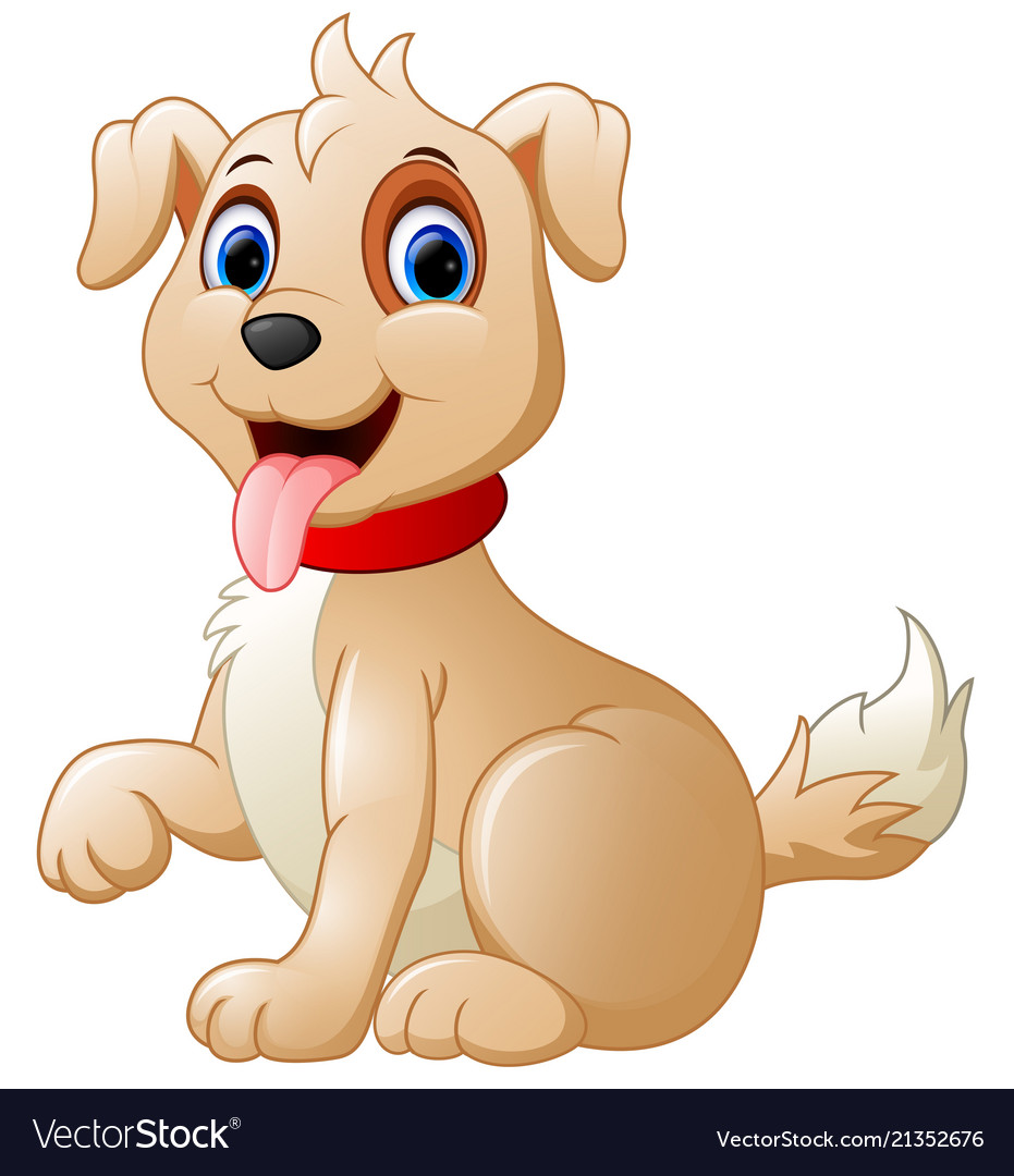 Cartoon cute dog Royalty Free Vector Image - VectorStock