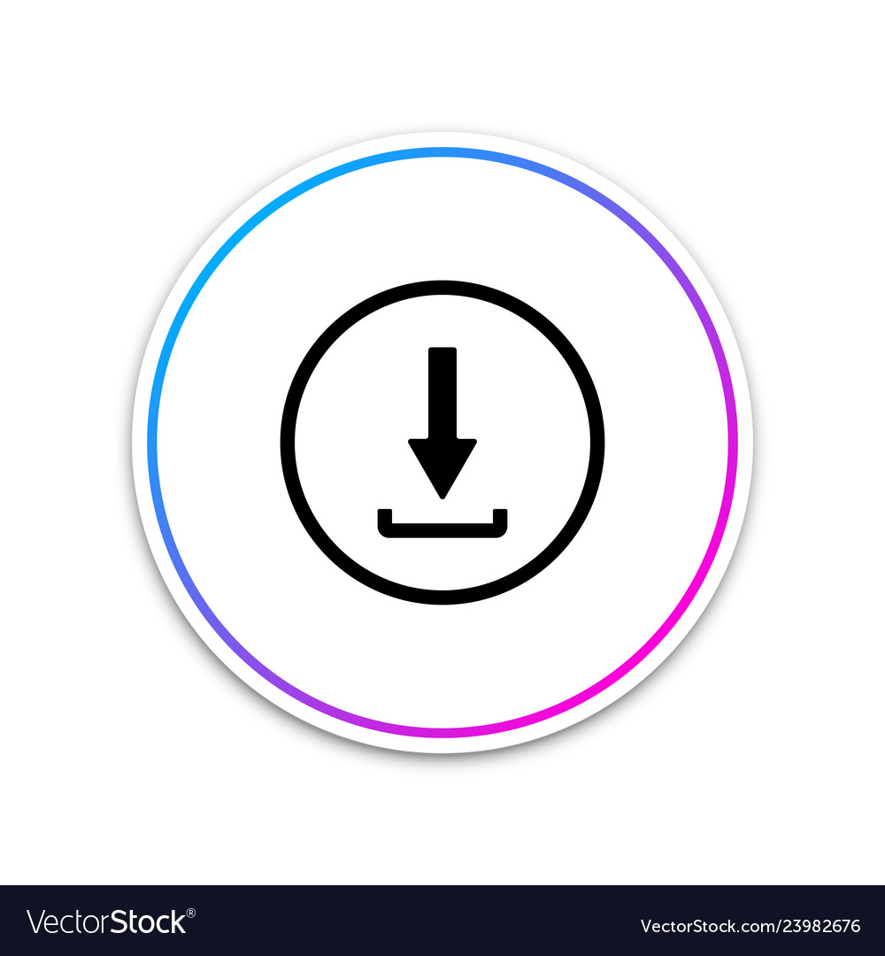 Download icon isolated upload button load symbol