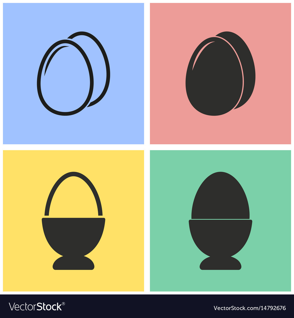 Egg icon set