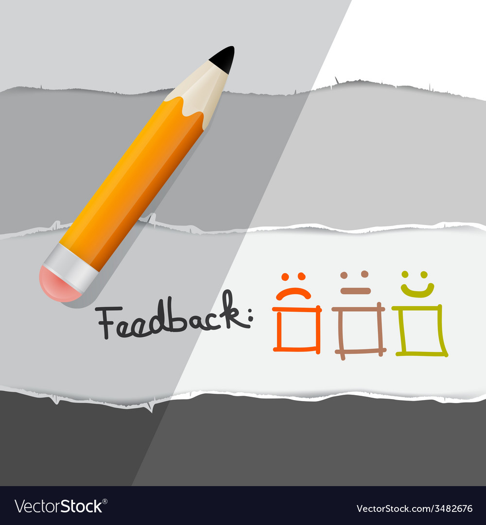 Feedback Symbols With Pencil Royalty Free Vector Image