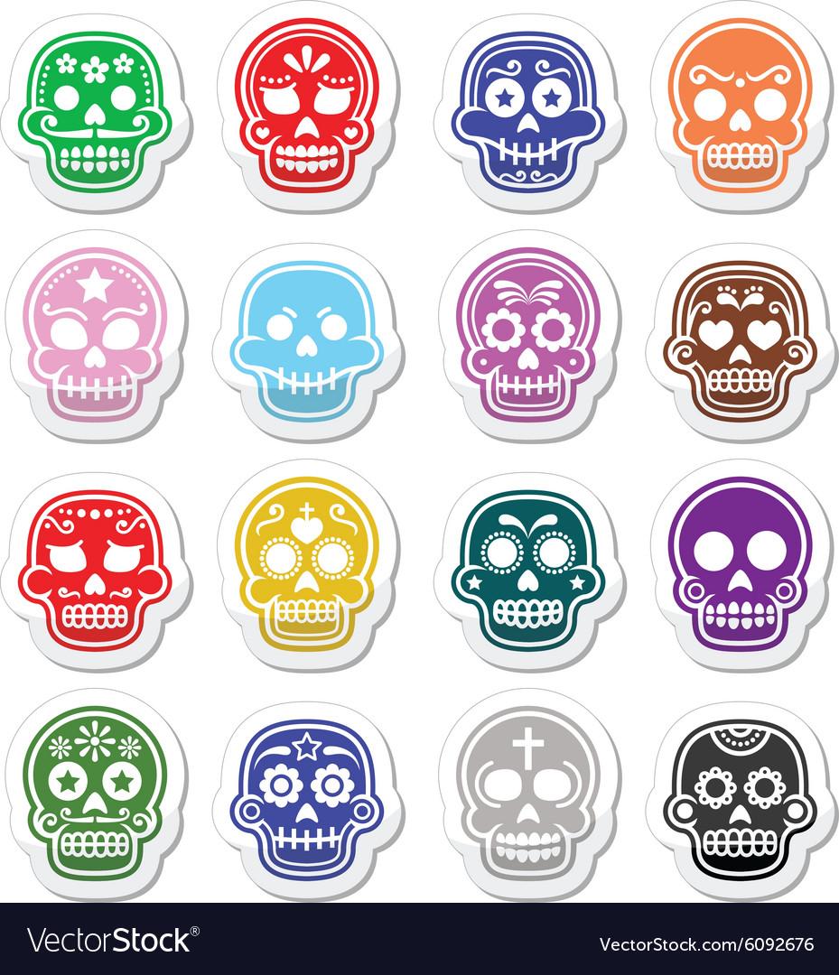 Halloween Mexican sugar skull Dia de los Muertos