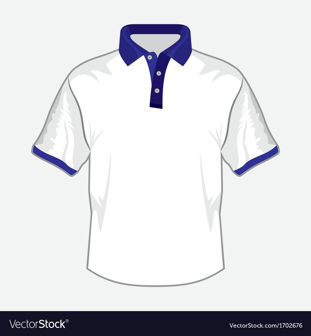 Polo majica bela teget kragna resize