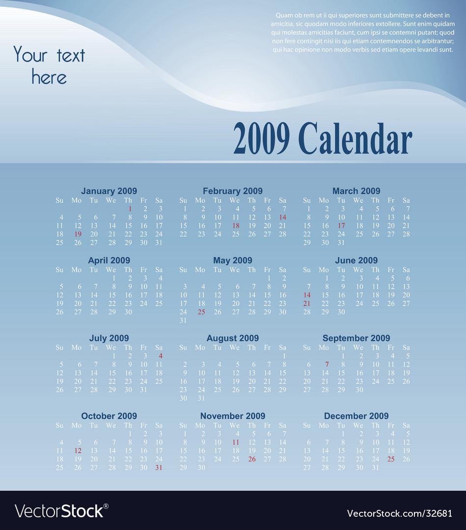 Blue-calendar vector image