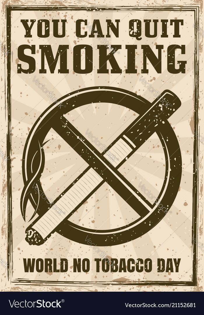 Cigarette in crossed out circle poster