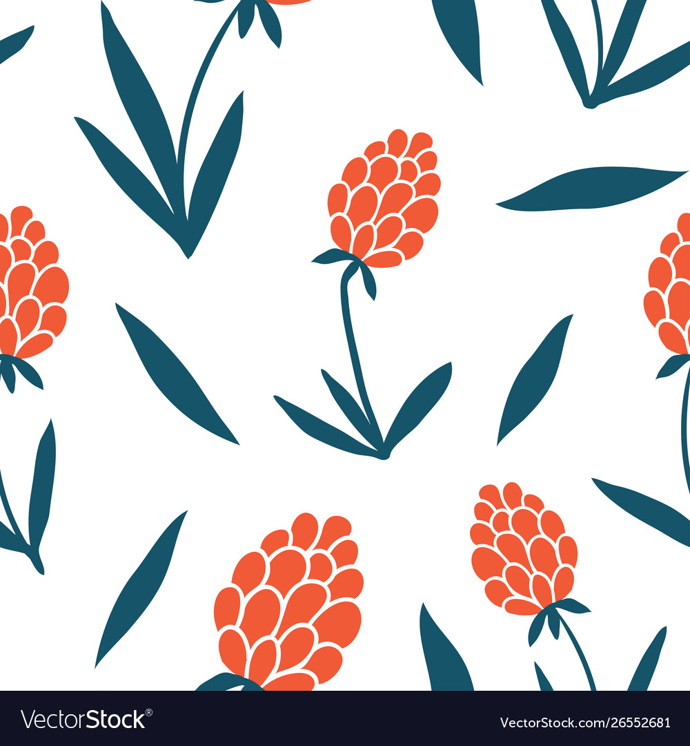 Flower Simple Seamless Pattern Graphic Design Vector Image