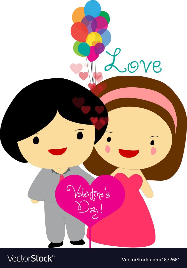 Happy valentines couple sweet love