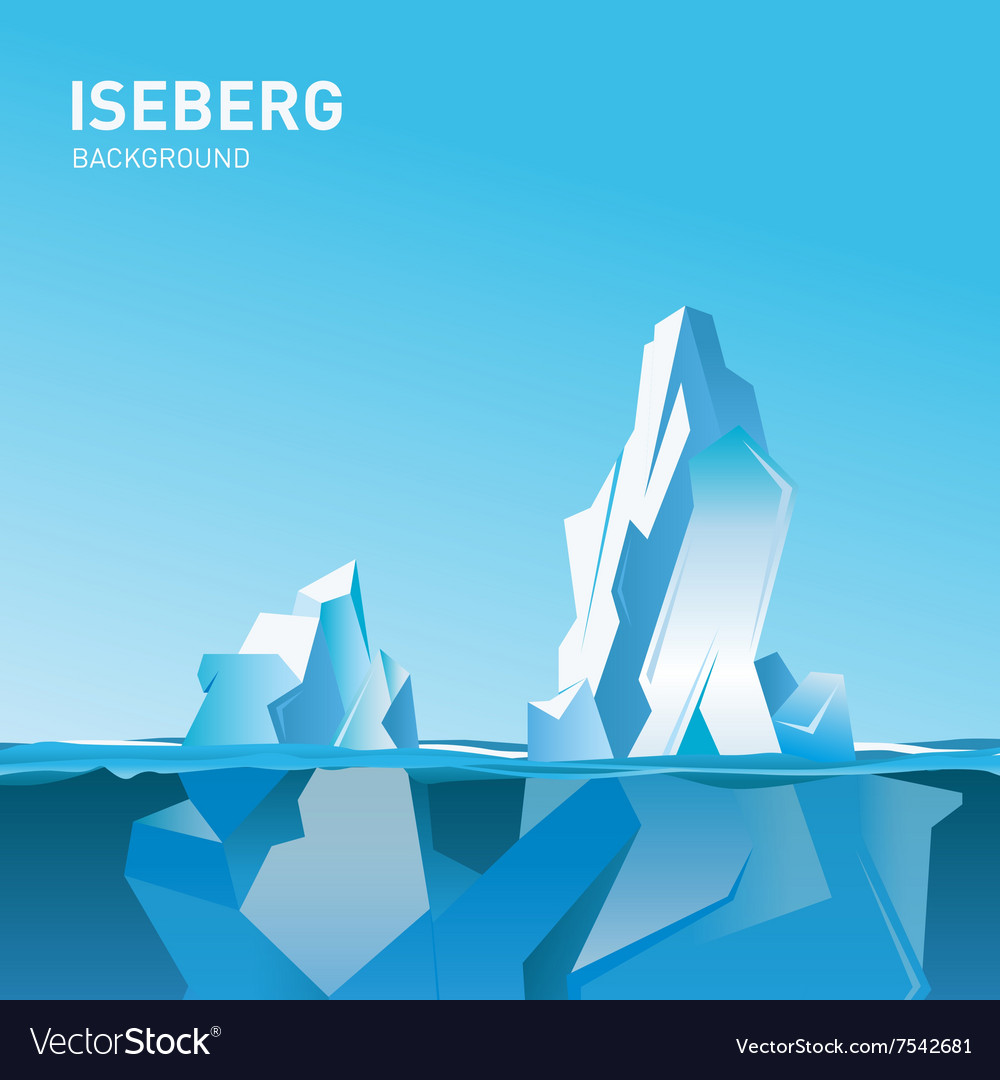 Iceberg under and above water