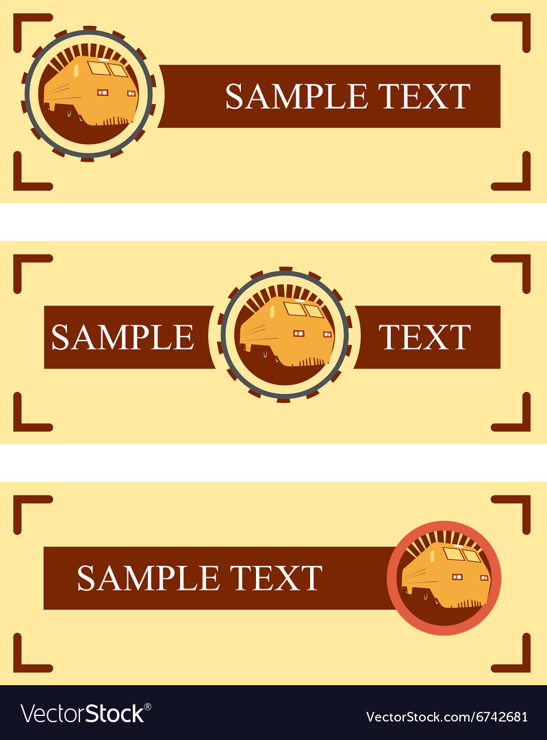 rail road sample banners vector image