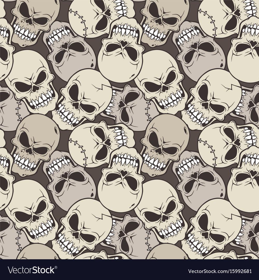 Seamless pattern skull