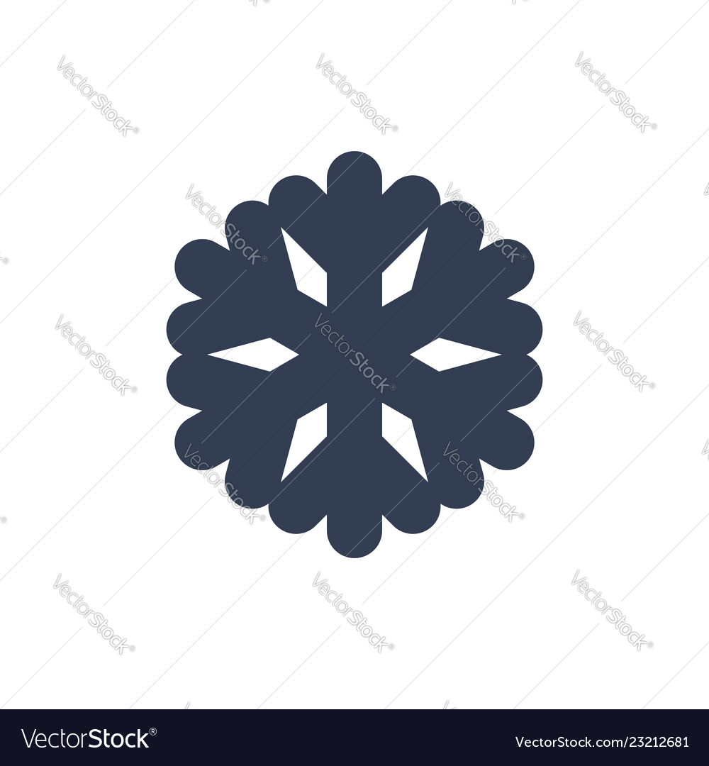 Snowflake icon black silhouette snow flake sign