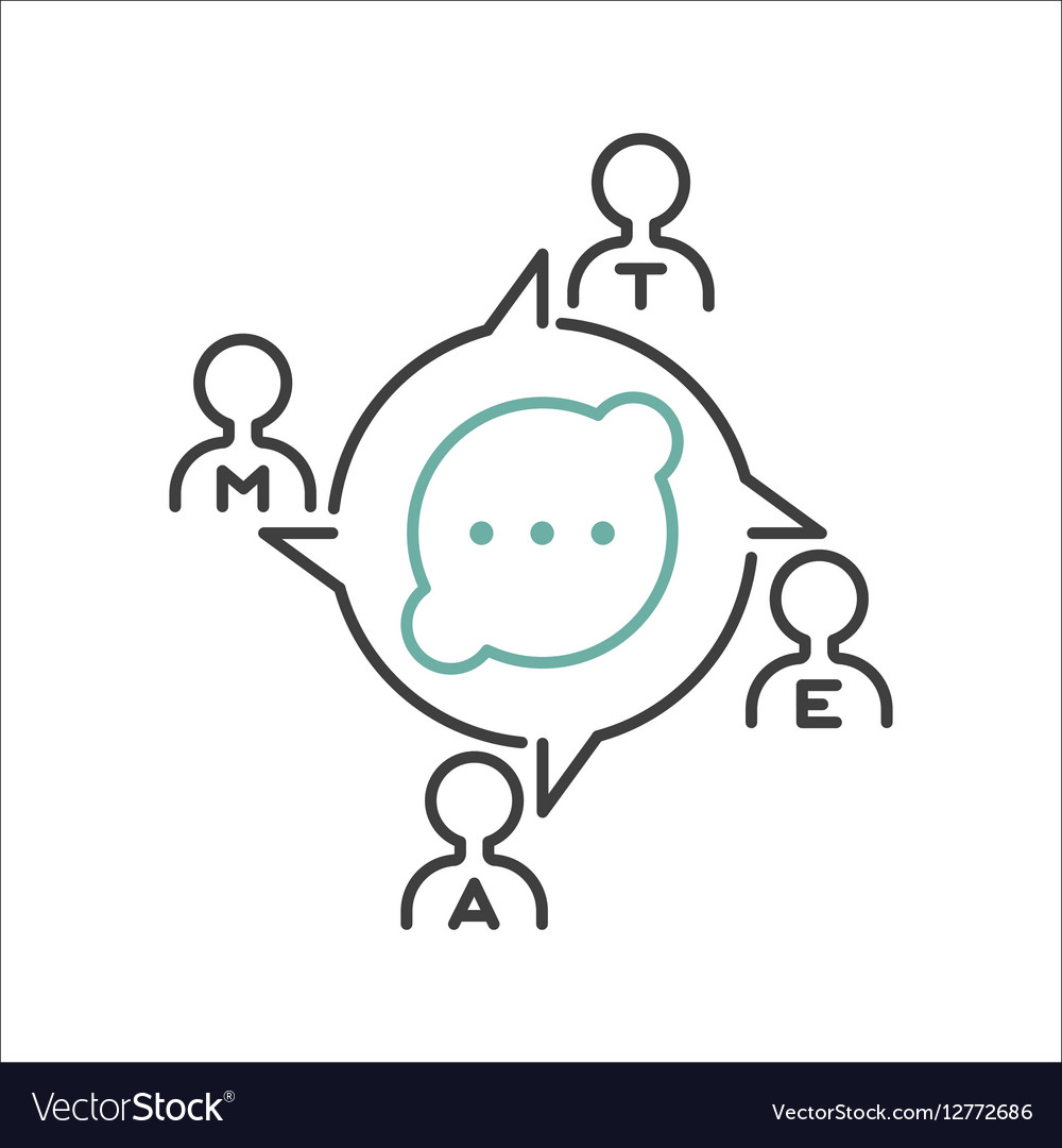 Business teamwork outline icon
