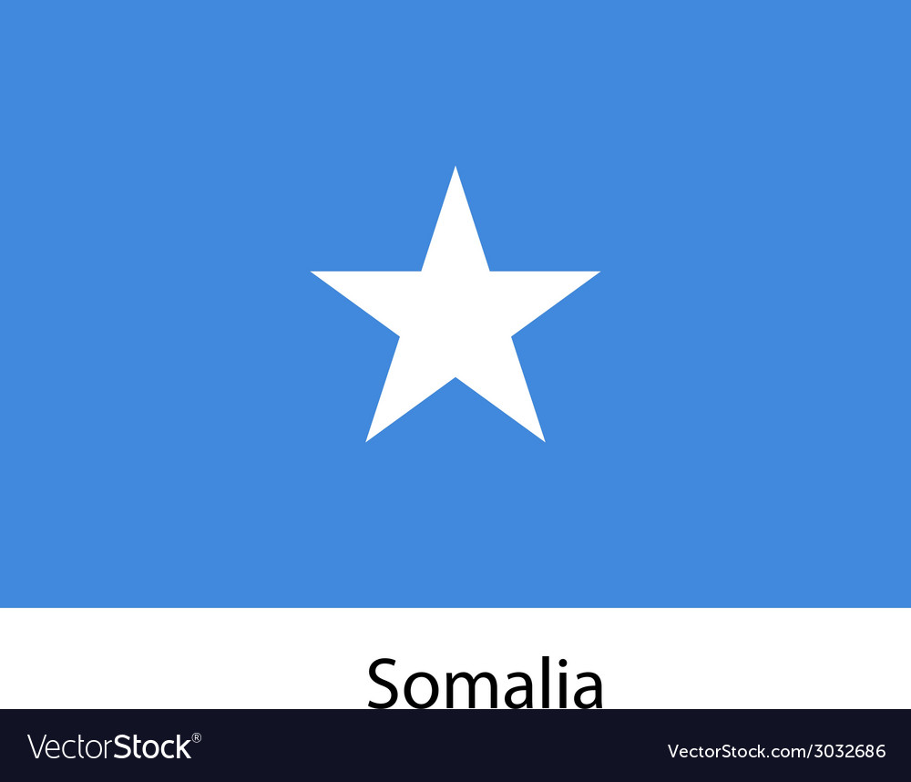Flag of the country somalia