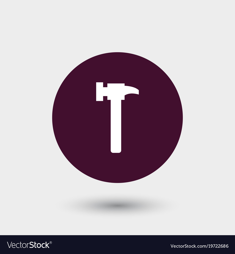 Hammer icon simple