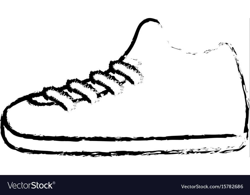 Line The Art Element : Line sneakers element to do exercise with fashion vector image
