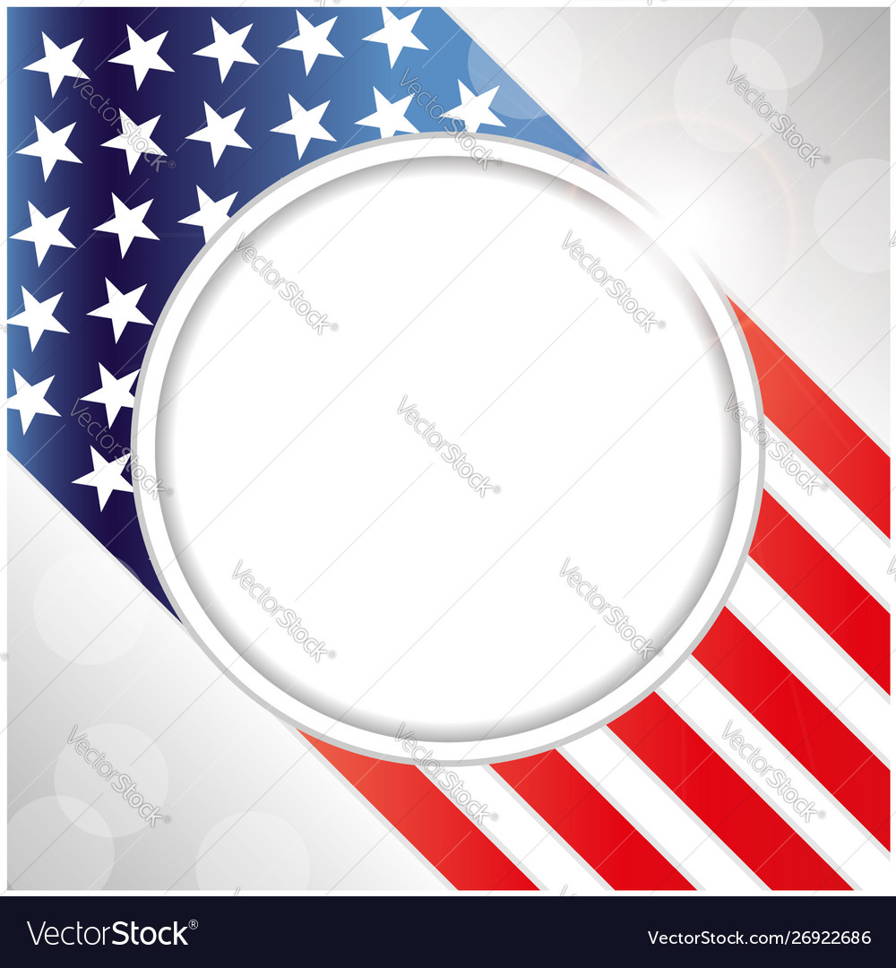 Usa flag decorative card with clean space