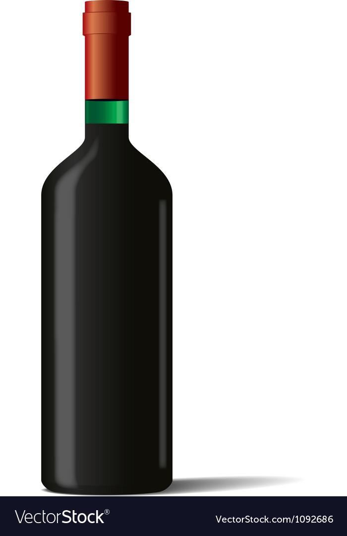 Wine bottle on white background