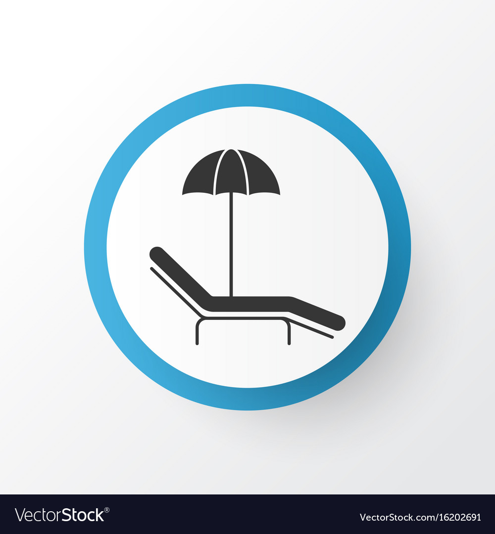 Beach Icon Symbol Premium Quality Isolated Relax Vector Image