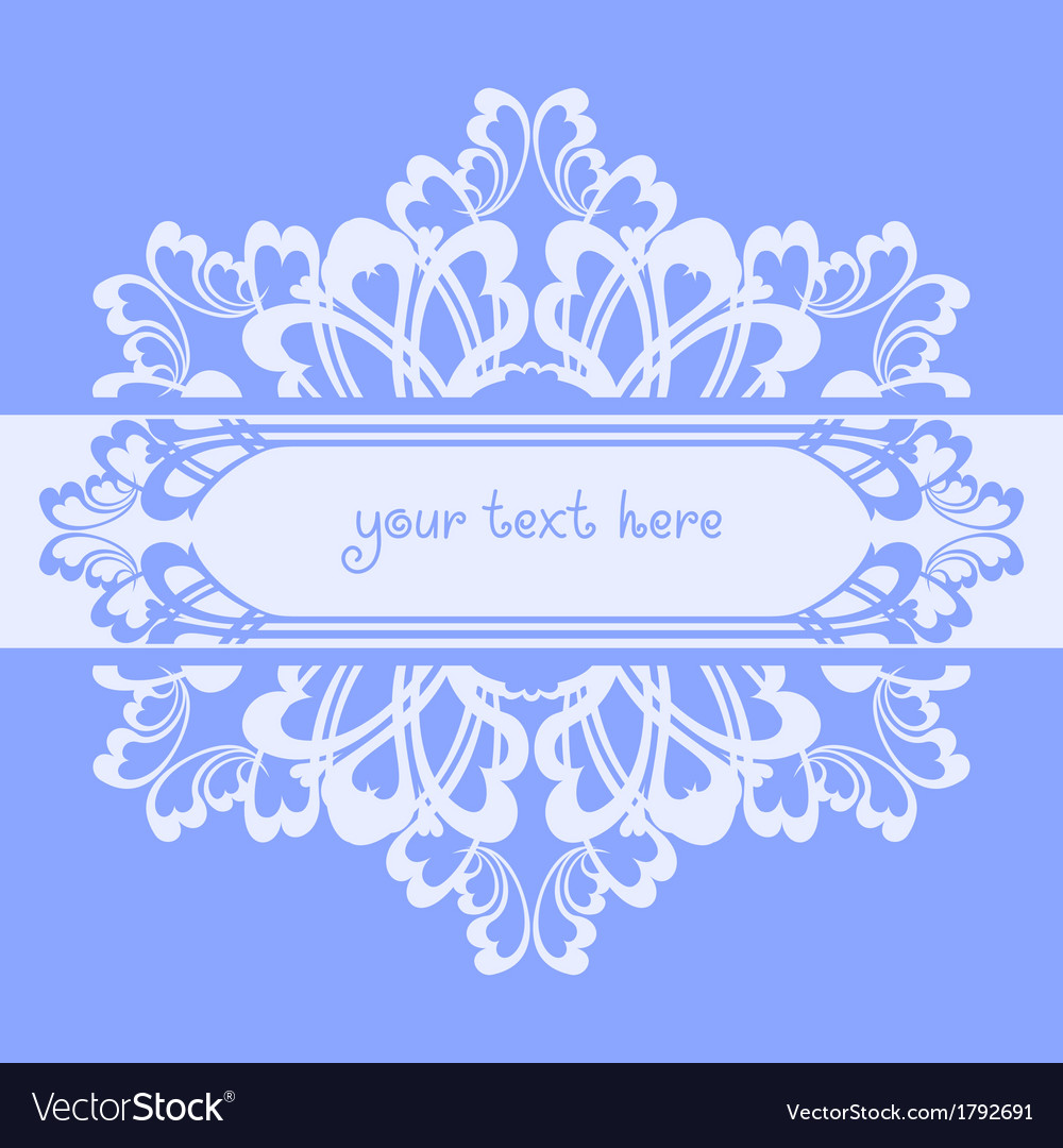Blue ornate background vector image